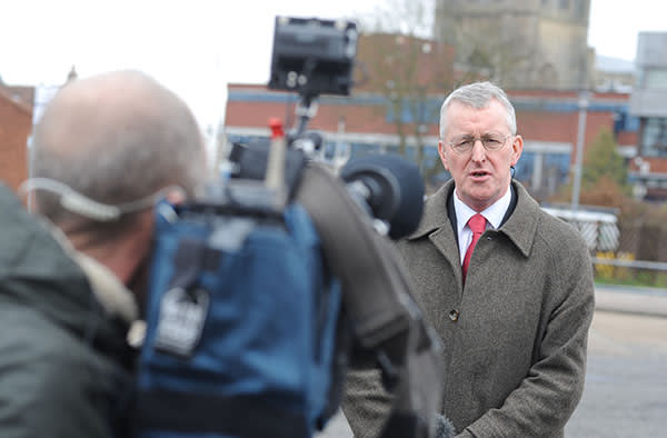 Labour MP Hilary Benn during his visit to Boston with the Brexit committee on Thursday