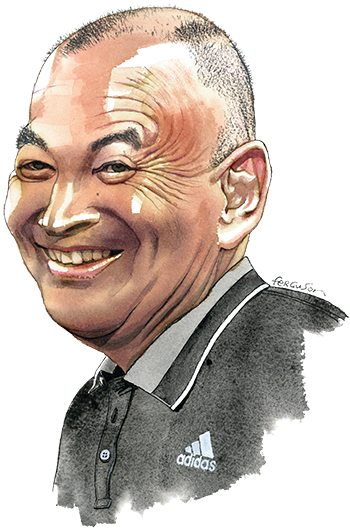 Eddie Jones illustration for Lunch with the FT