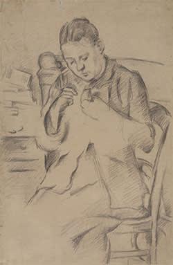 'Madame Cézanne Sewing'