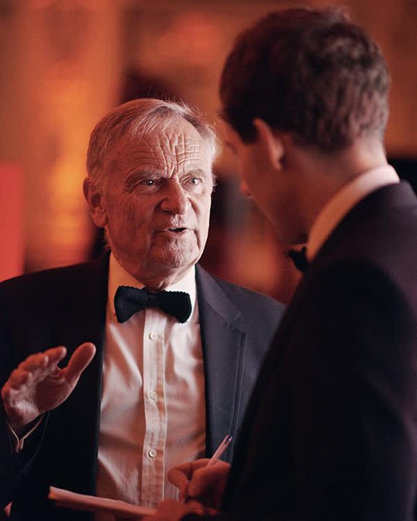 Jeffrey Archer with Henry Mance