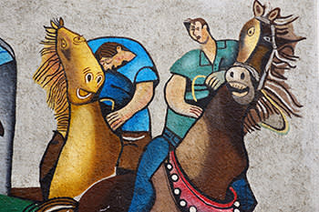 Orgosolo wall paintings, Sardinia, Italy