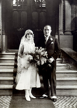 Bernard and Win on their wedding day