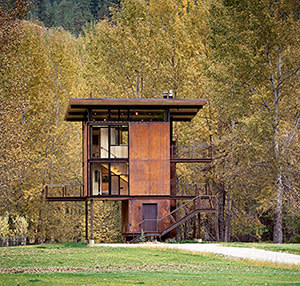 Delta Shelter, by Tom Kundig, in Washington state, US