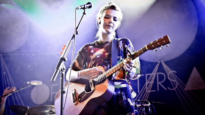 Nanna Brynds Hilmarsdottir of Iceland's indie band Of Monsters and Men, 2013