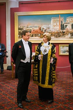 The Lord Mayor with David Cameron