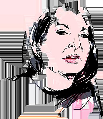 Seb Jarnot's illustration of Marina Abramovic