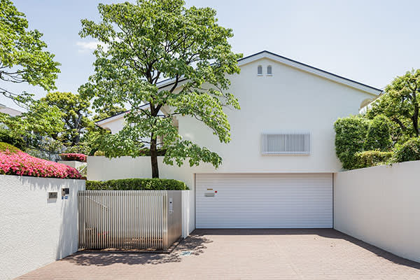 Driveway of Hatoyama's home in a suburb of Tokyo