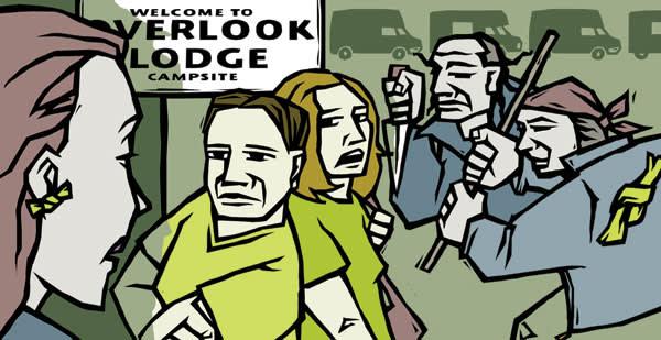Overlook Lodge illustration by Amanda Hutt