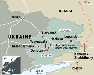 Ukraine East map
