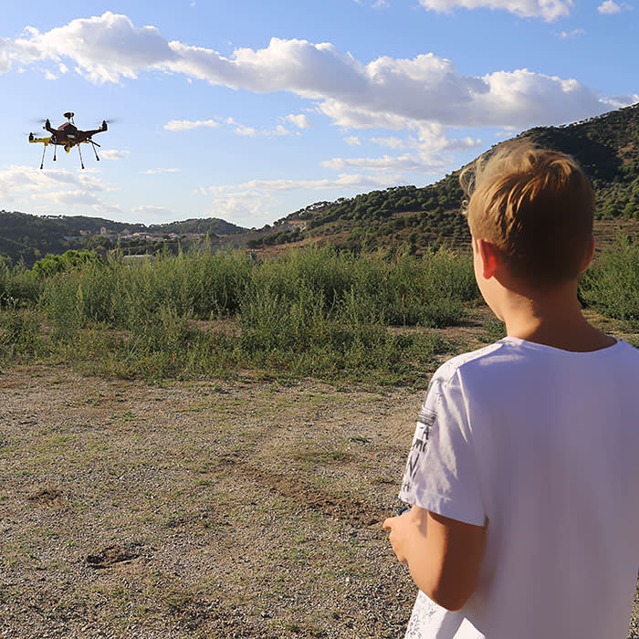 Flying the finished drone