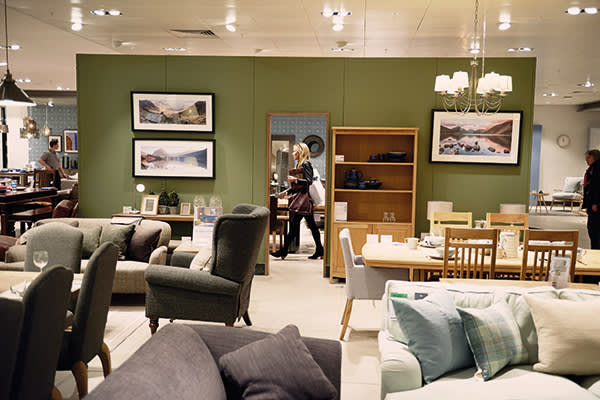 The furniture department at the Oxford Street store of John Lewis