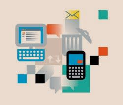 Illustrations by Alberto Antoniazzi depicting email and social media
