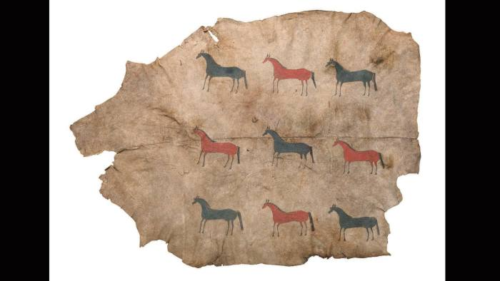Buffalo Hide 1840, Donald Ellis Gallery at Frieze