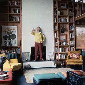 Truman Capote at home in Long Island, New York, in 1965