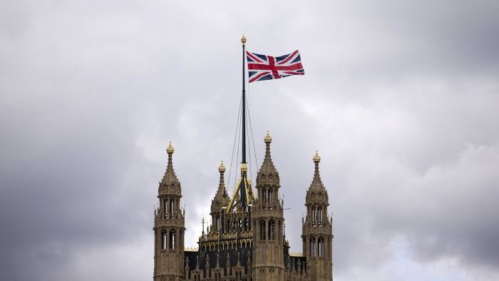 The Union flag flying above the Houses of Parliament where lawmakers are expected to vote in favour of joining air strikes against Islamic State (IS) militants in central London on 26 September, 2014. British Prime Minister David Cameron warned that military action against Islamic State (IS) militants could last for