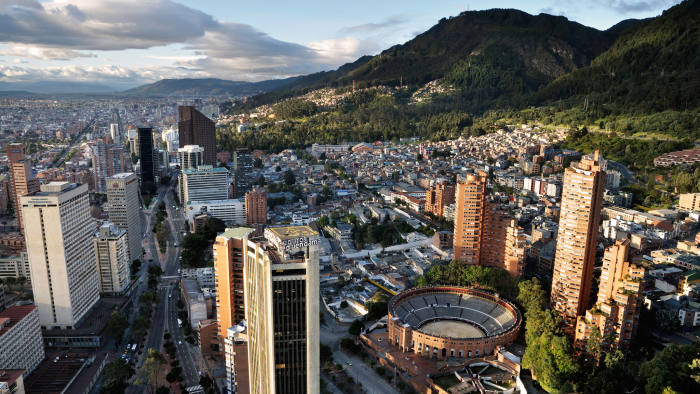 A panoramic view of the Colombian capital, Bogotá