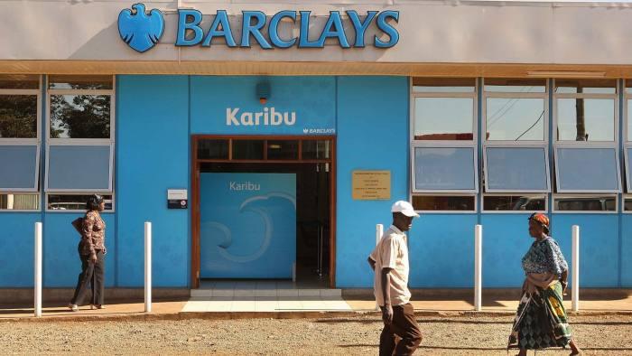 A branch of Barclays Bank in Nairobi, Kenya