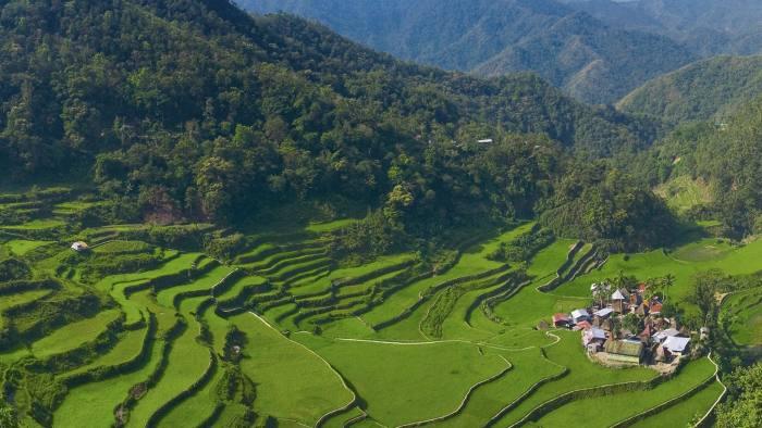 Rice terraces of Bangaan at Banaue, Philippines