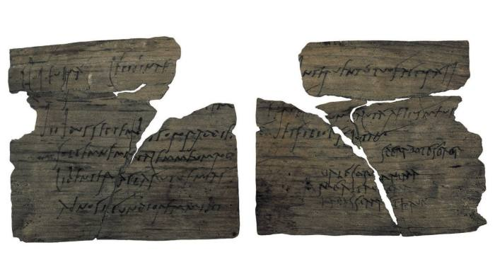 Roman writing tablets from the Vindolanda fort on Hadrian's Wall