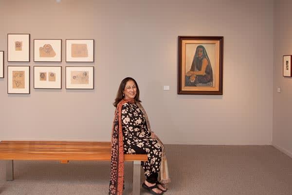Kiran Nadar in her museum