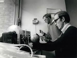 Kettering Grammar School's Bob Christy (right) and Derek Slater