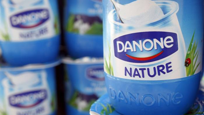 Yoghurt by French foods group Danone is seen in this photo illustration shot in Strasbourg, April 15, 2015. The world's largest yoghurt maker, with brands including Activia and Actimel, has beaten sales expectations on the back of a recovery in baby food demand in Asia and robust growth in bottled waters, sending its shares to a record high. REUTERS/Vincent Kessler - RTR4XGJJ