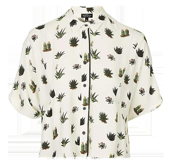 Cactus pyjama-style shirt, £28, topshop.com