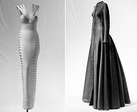 Sheath dress circa 1996 and full skirted dress c 1996