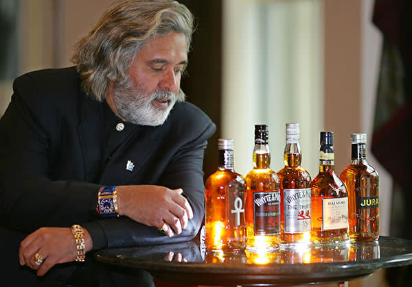 Mallya in Glasgow, May 2007, after paying £595m for Whyte & Mackay whisky