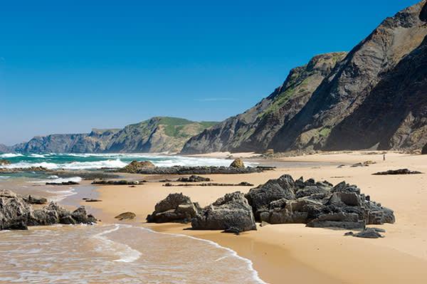 Praia do Castelejo beach, in the western Algarve