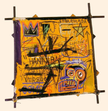 Hannibal, by Jean-Michel Basquiat. The 1981 painting was smuggled into the US