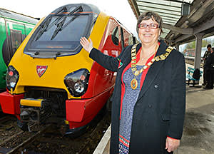 The official launch of the new direct rail service between Shrewsbury and London