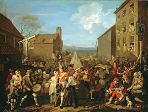 Hogarth's 'The March to Finchley' (1750)