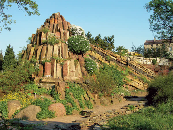 A pinnacle of rock at the alpine garden