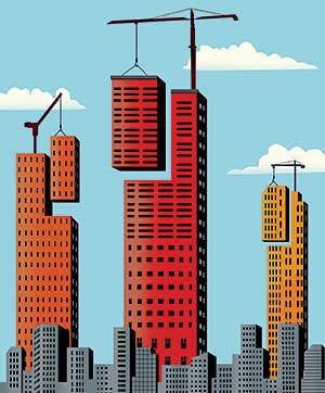 Towering ambitions story illustration for Business Education European Business Schools ranking 2014