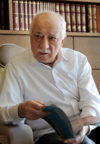 Fethullah Gulen. Leader of the shadowy Islamic network that originally helped Erdogan's AKP into power. The ruling party has since accused 'Gulenists' of plotting to bring down the government