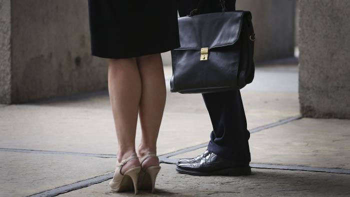 Gender pay gap...File photo dated 11/8/2014 of office workers in central London. Less than one in 10 firms publish gender pay gap information, so face a