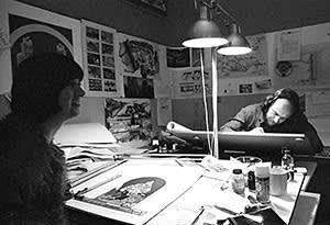 Archigram's Ron Herron at work in 1972