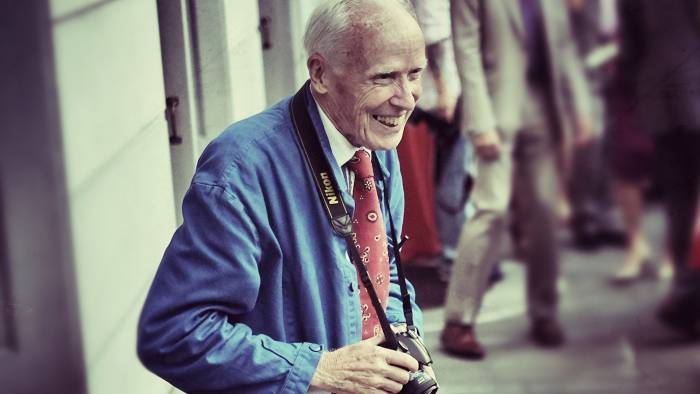 NEW YORK, NY - JULY 16: (EDITORS NOTE: This image was processed using digital filters) Photographer Bill Cunningham attends the 2013 Frick Collection Garden Party at The Frick Collection on July 16, 2013 in New York City. (Photo by Neilson Barnard/Getty Images)
