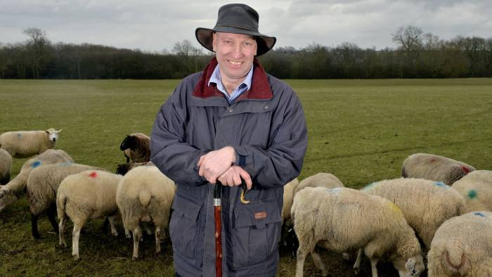 Charles Sercombe, a sheep farmer for 40 years, says leaving the EU without a trade deal would be a 'nightmare scenario'