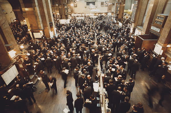 Trading at the London Stock Exchange in November 1967