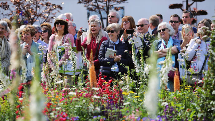 Visitors to Chelsea Flower Show in 2016
