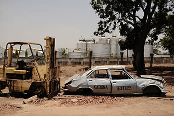 The abandoned compound of Kaduna Textiles Limited
