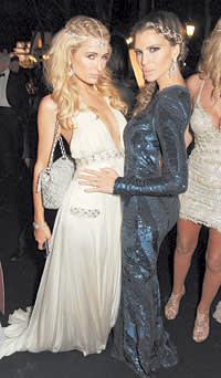 Paris Hilton (left) and friend attend the de Grisogono party at the 2013 Cannes Film Festival