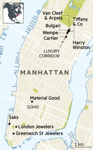 Watches and Jewellery NY map