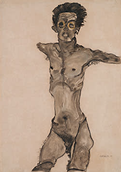 'Nude Self-Portrait' (1910)