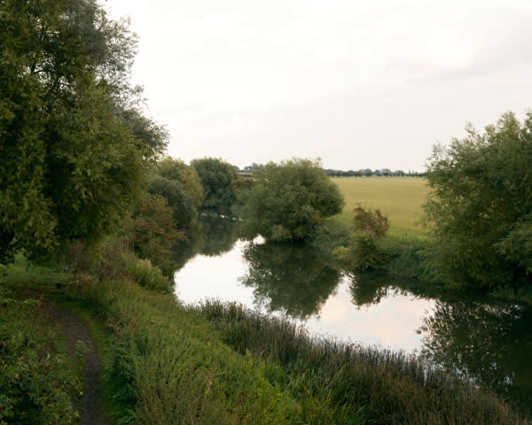 View from the old railway bridge over the River Avon