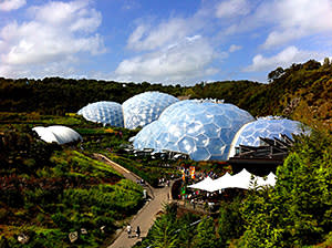 The eco-domes of the Eden Project in Cornwall, UK