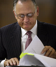 Carl Cole at the start of his hearing in 2009