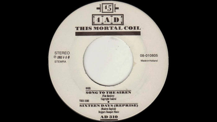 'Song to the Siren' vinyl record